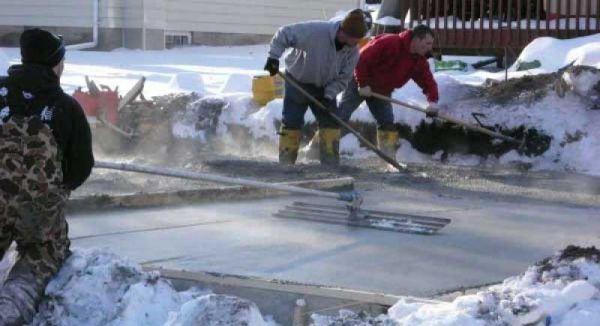 Vakolás, betonozás hideg időben